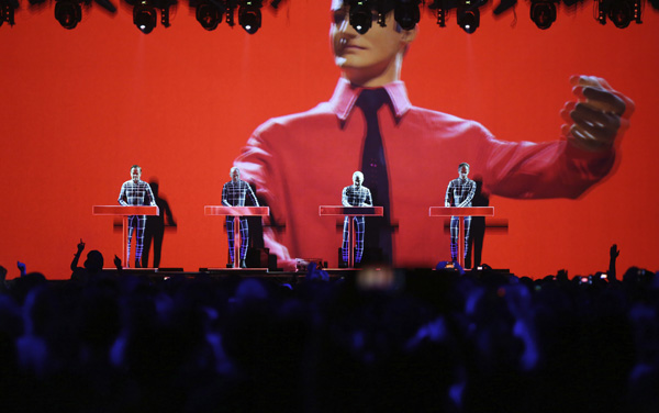 Kraftwerk play at T in the Park on Friday the 12th of July 2013.